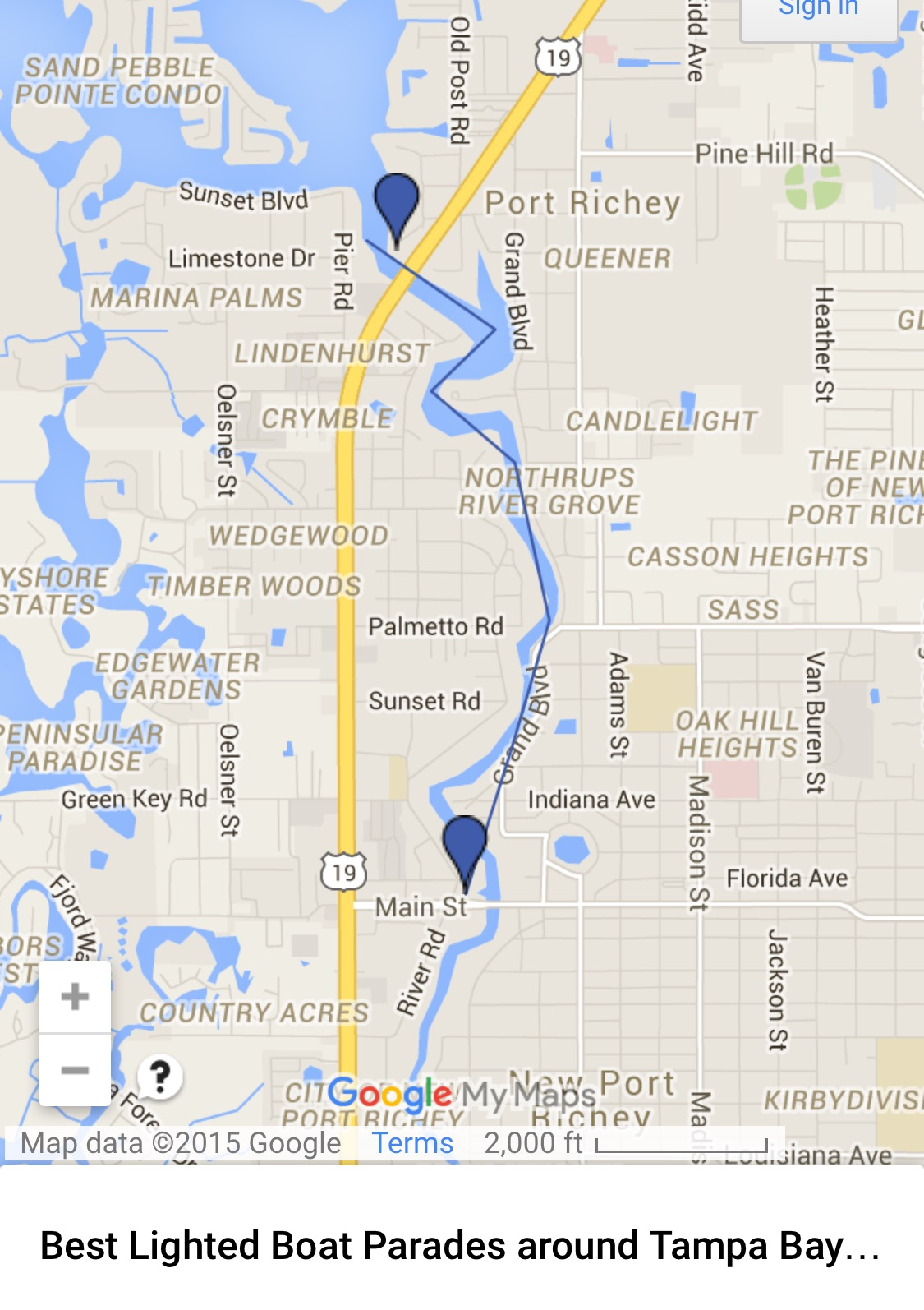 Complete FREE Guide To All Tampa Bay Holiday Lighted Boat - Florida map dunedin